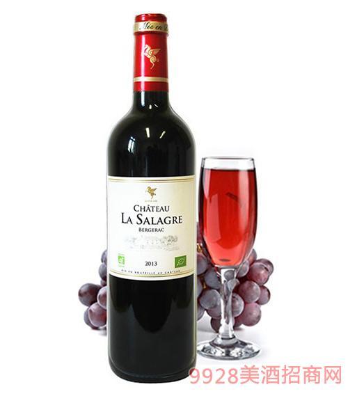 翡馬萨拉格酒庄有机红葡萄酒14度750ml