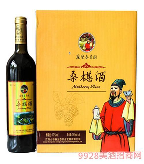 山谷春桑椹酒12度750ml礼盒