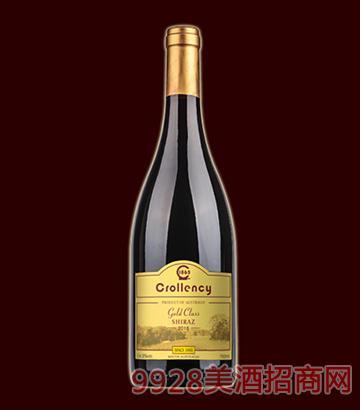 黄金级西拉子干红葡萄酒14度750ml