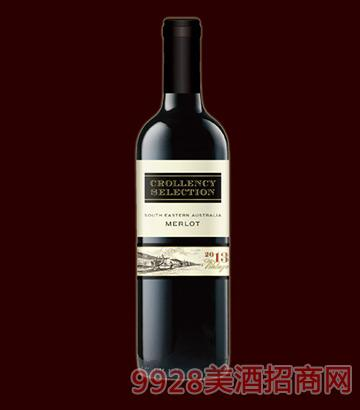 克伦溪精选美乐干红葡萄酒13.5度750ml