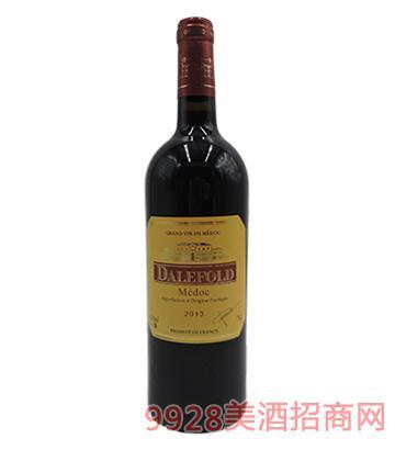 法国原瓶进口黛富德梅多克干红葡萄酒