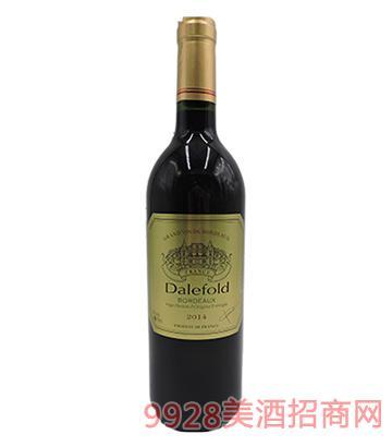 法国原瓶进口黛富德波尔多2013干红葡萄酒