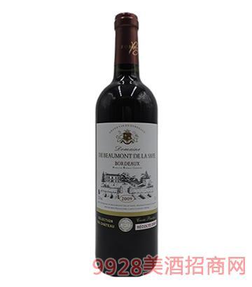 法国原瓶进口黛富德波尔多2009干红葡萄酒
