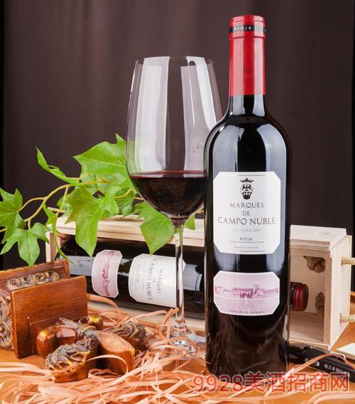 坎普侯爵佳酿级红葡萄酒2009