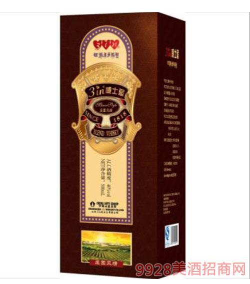 庄园风情威士忌40度500ml盒装
