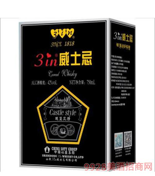 城堡风情威士忌42度750ml盒装