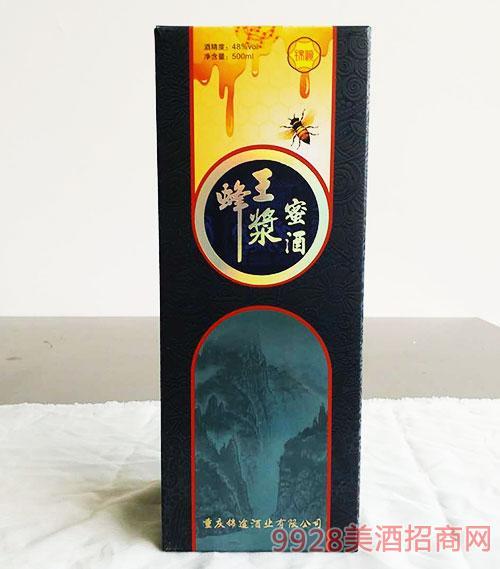 锦峡蜂王浆蜜酒48度500ml盒装