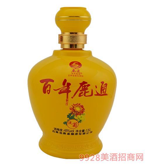 百年鹿通酒珍藏淡菊45度1.5L