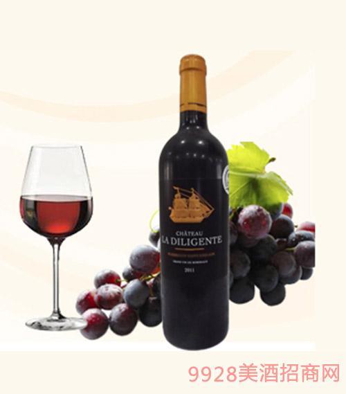 法国德利城堡干红葡萄酒