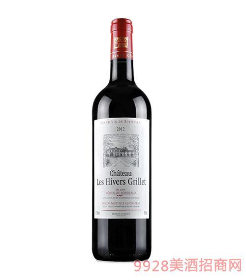 法国波尔多利海沃酒庄红葡萄酒