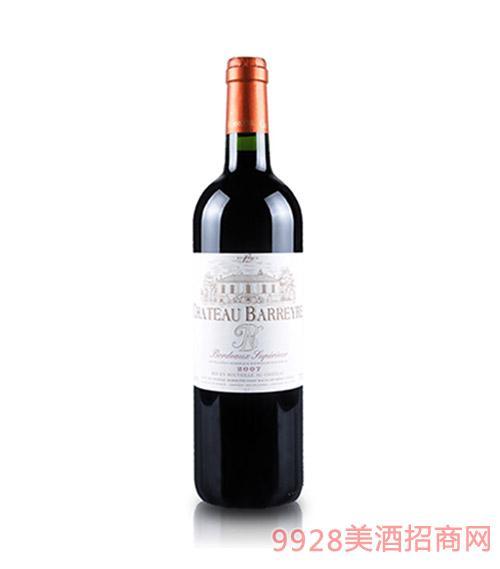 法国波尔多巴利庄干红葡萄酒
