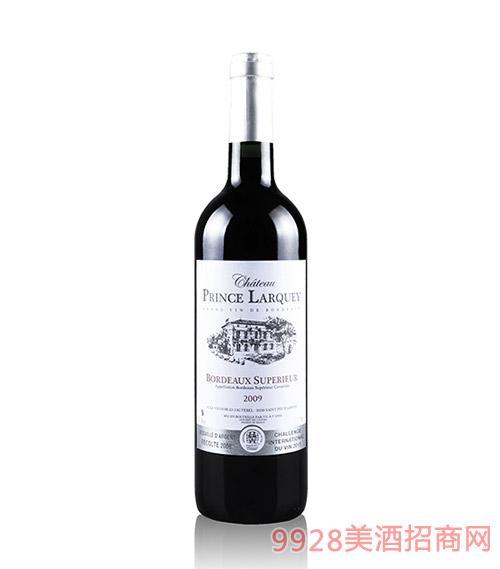 法国波尔多拉格皇子红葡萄酒