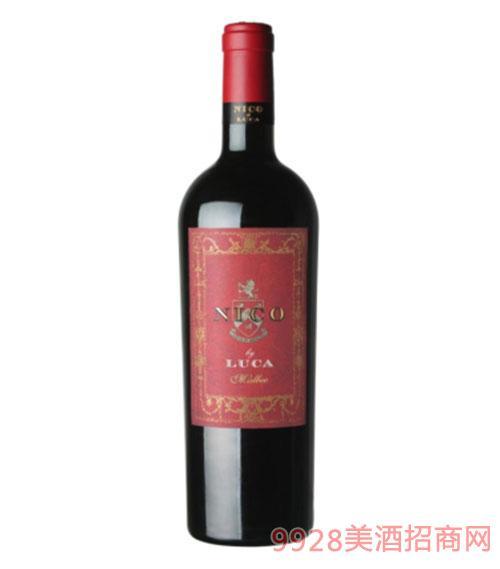 卢卡.妮可-马尔贝克红葡萄酒14度750ml