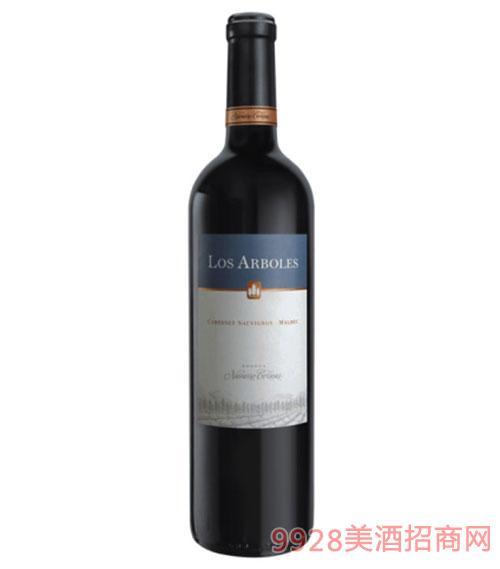 橡树庄园-赤霞珠马尔贝克红葡萄酒13.2度750ml