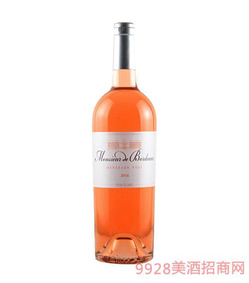 法国法国波尔多先生桃红葡萄酒