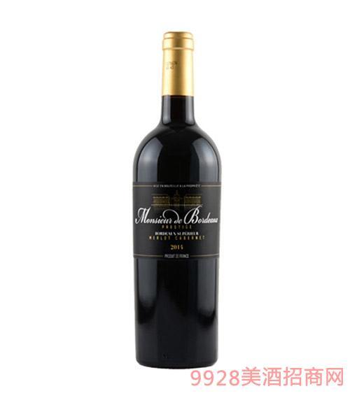 法国波尔多先生珍藏干红葡萄酒
