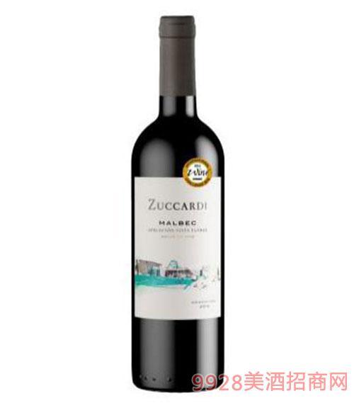 筑卡迪家族马尔贝克红葡萄酒14度750ml