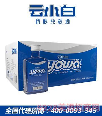 云小白精酿纯粮酒yowa系列100mlX24箱装