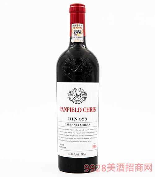 奔富克鲁斯328赤霞珠西拉子干红葡萄酒14.5度750ml