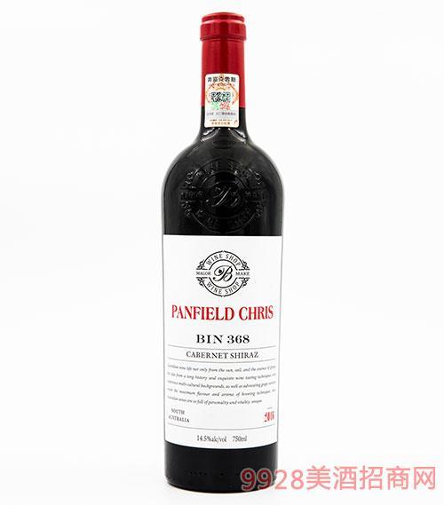 奔富克鲁斯368赤霞珠西拉子干红葡萄酒14.5度750ml