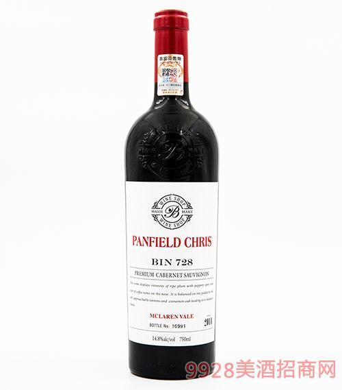 奔富克鲁斯728麦克拉伦谷臻品赤霞珠干红葡萄酒14.8度750ml