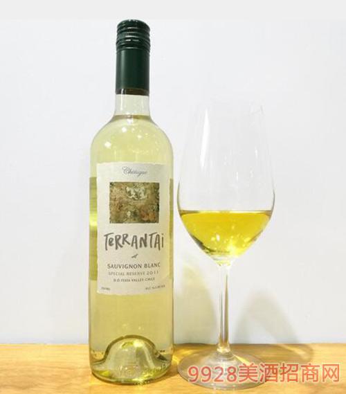 智利原装进口特兰泰特级珍藏苏维翁白葡萄酒