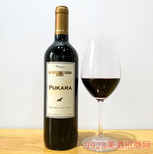 智利原装进口普卡拉解百纳干红葡萄酒