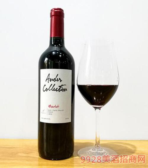 智利原瓶进口安迪斯梅洛干红葡萄酒