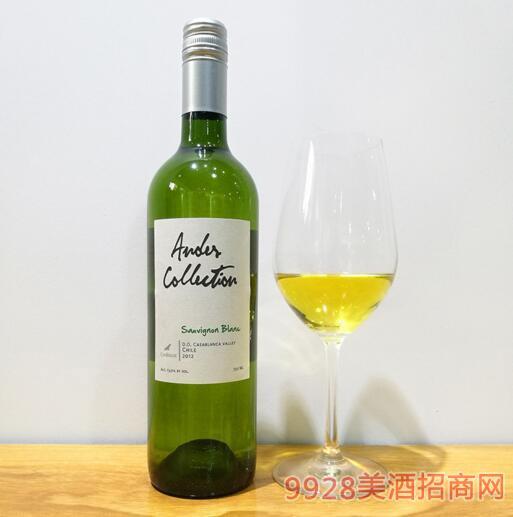 智利原瓶进口安迪斯苏维翁白葡萄酒