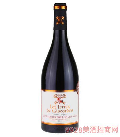 法国吉高鲁西荣村庄干红葡萄酒750ml
