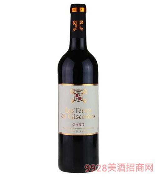 法国吉高嘉德干红葡萄酒750ml