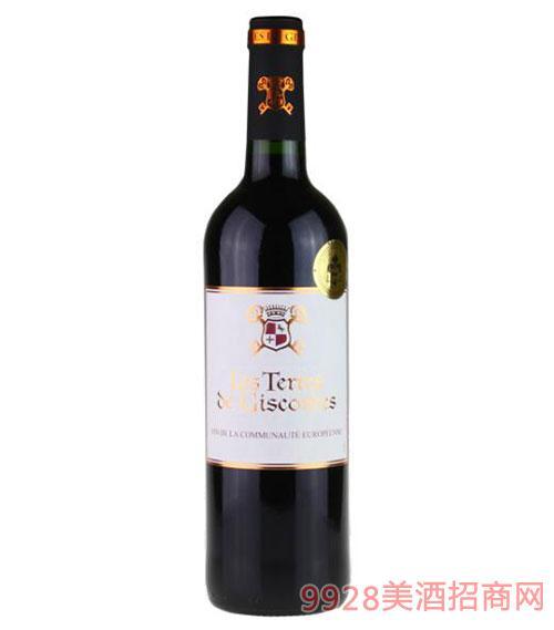 法国吉高干红葡萄酒750ml