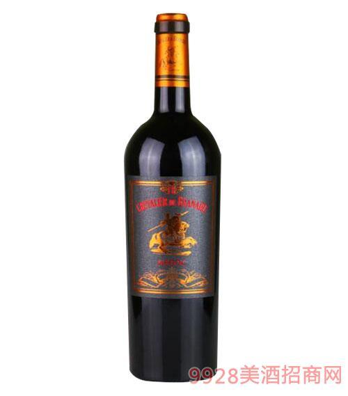 法国周伯通骑士干红葡萄酒750ml