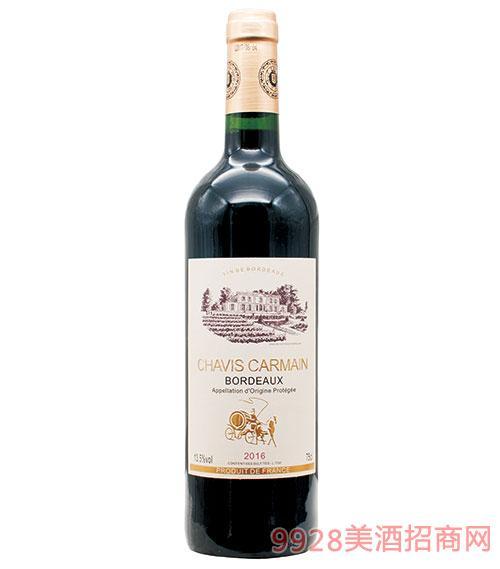 法国查韦维斯卡梅干红葡萄酒13.5度750ml