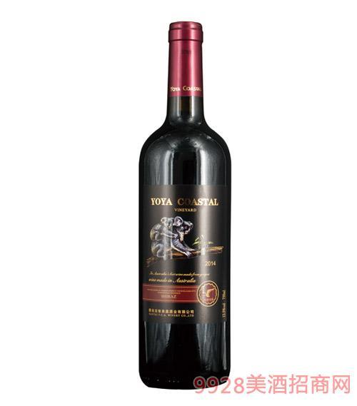2014裕雅海岸葡园干红葡萄酒-750ml-13.5%vol