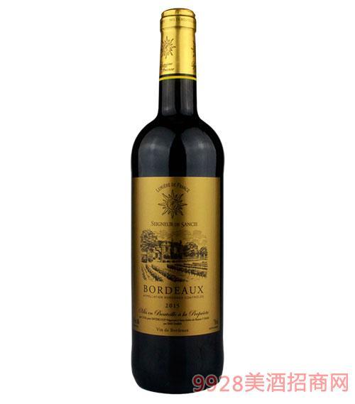 法国之光波尔多干红葡萄酒12.5度750ml