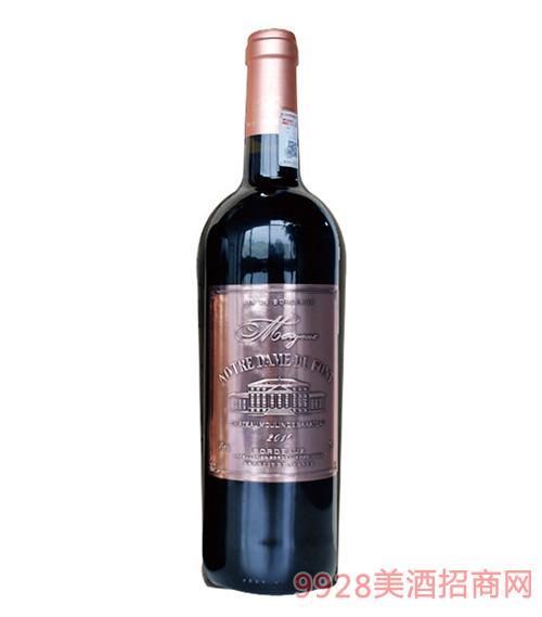 法国玛歌圣母山城堡波尔多干红葡萄酒14度750ml