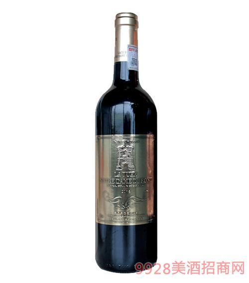 法国拉图圣母山城堡波尔多干红葡萄酒14度750ml
