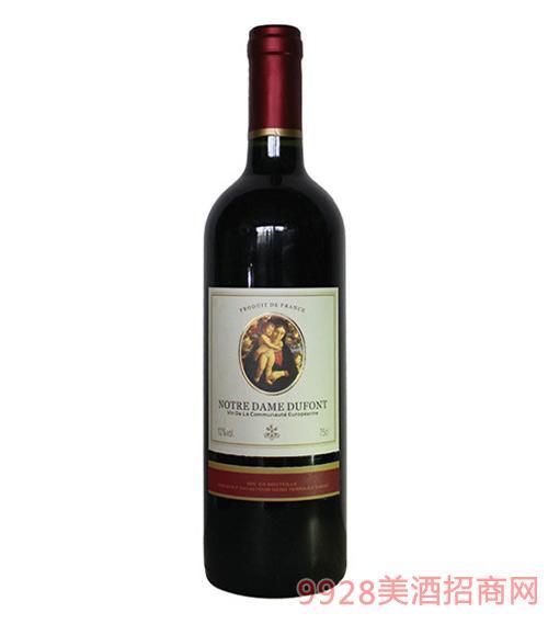 法国圣母山优选干红葡萄酒12度750ml