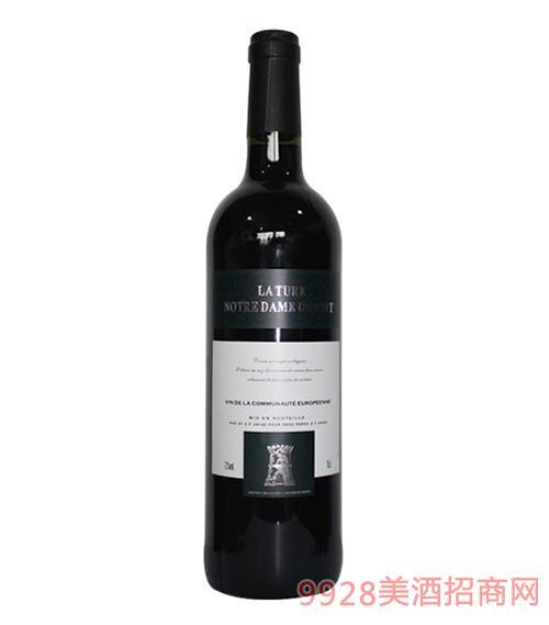 法国拉图圣母山珍藏干红葡萄酒12度750ml