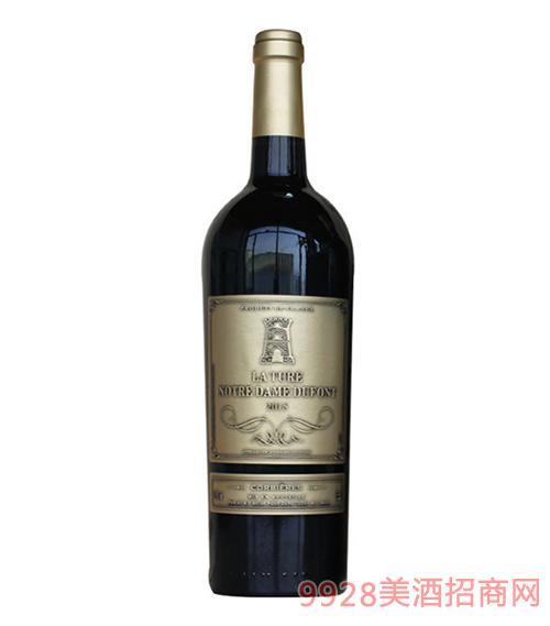 法国拉图圣母山特酿干红葡萄酒(金标)13度750ml