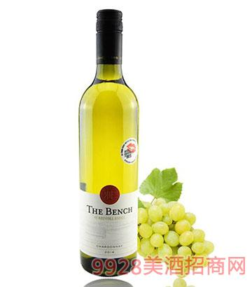 红秀山BENCH系列霞多丽白葡萄酒13度750ml