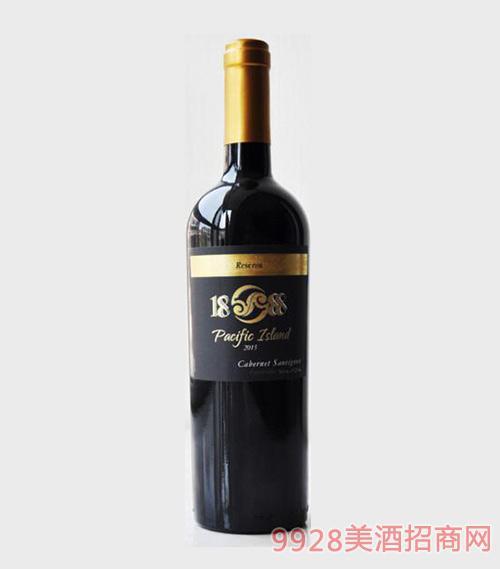 智利珍藏级1888太平岛赤霞珠干红葡萄酒