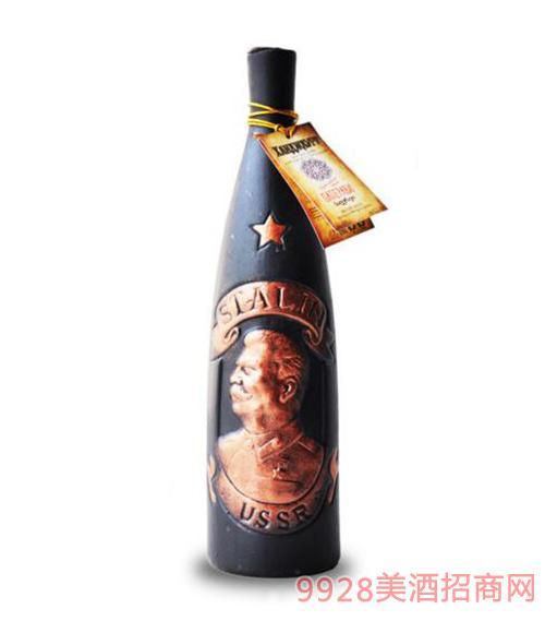格鲁吉亚斯大林陶罐萨别拉维干红葡萄酒