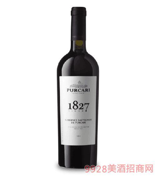 原瓶进口红酒普嘉利1827赤霞珠干红葡萄酒