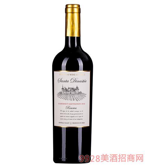 智利桑塔迪纳斯珍藏干红葡萄酒13.5度750ml