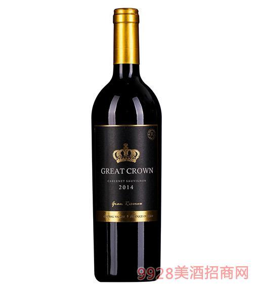 智利格雷克朗珍藏干红葡萄酒13.5度750ml
