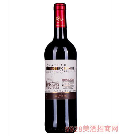 芳庭贝纳干红葡萄酒2015 13度750ml