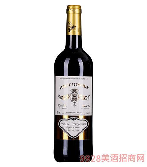 法国浩特城堡干红葡萄酒12度750ml