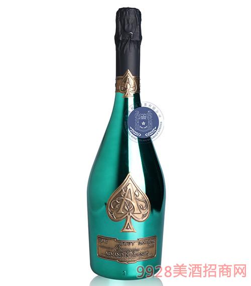 法国黑桃A(绿金)香槟葡萄酒12.5度750ml